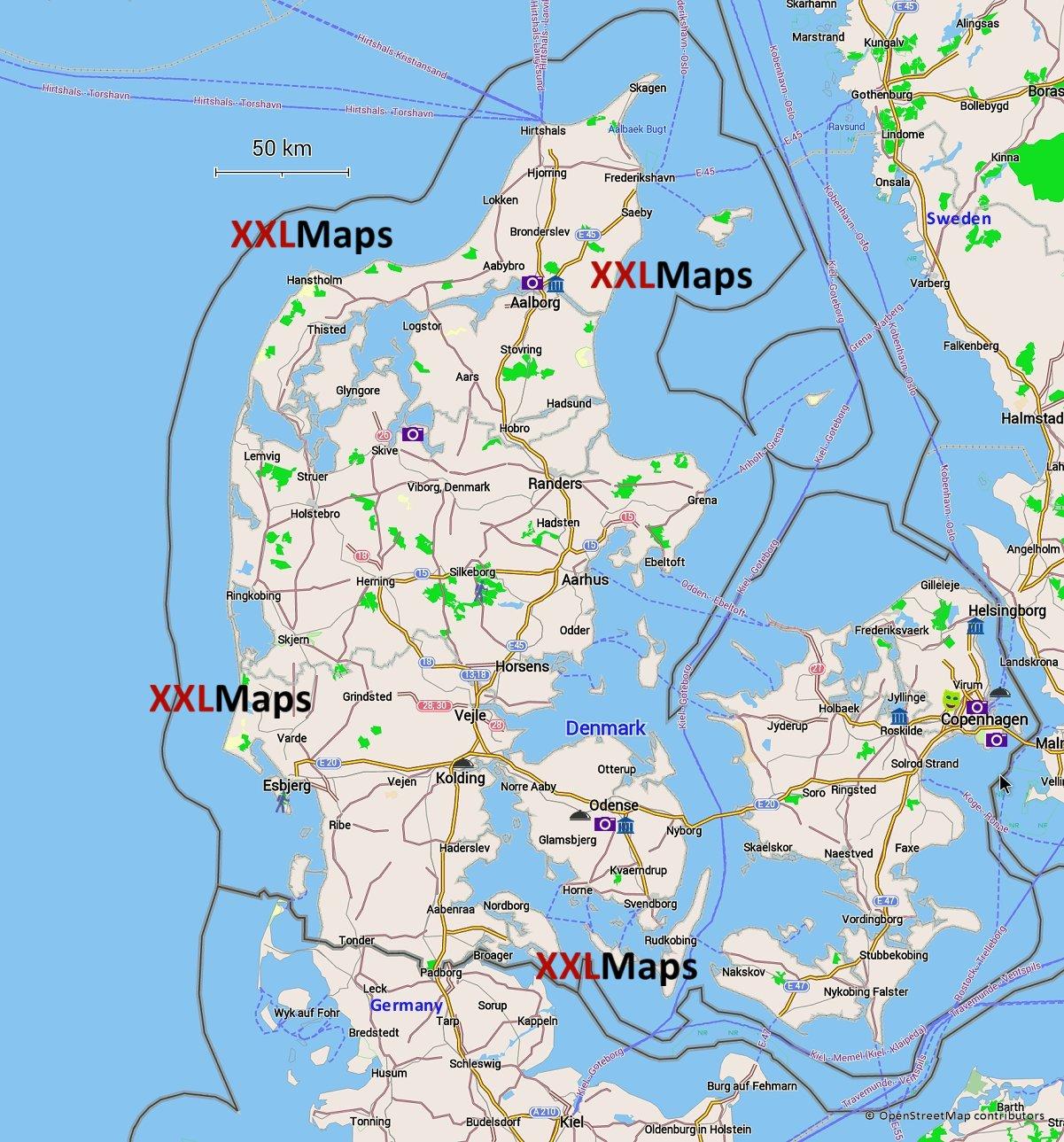 kart over danmark Kart Over Danmark | Kart