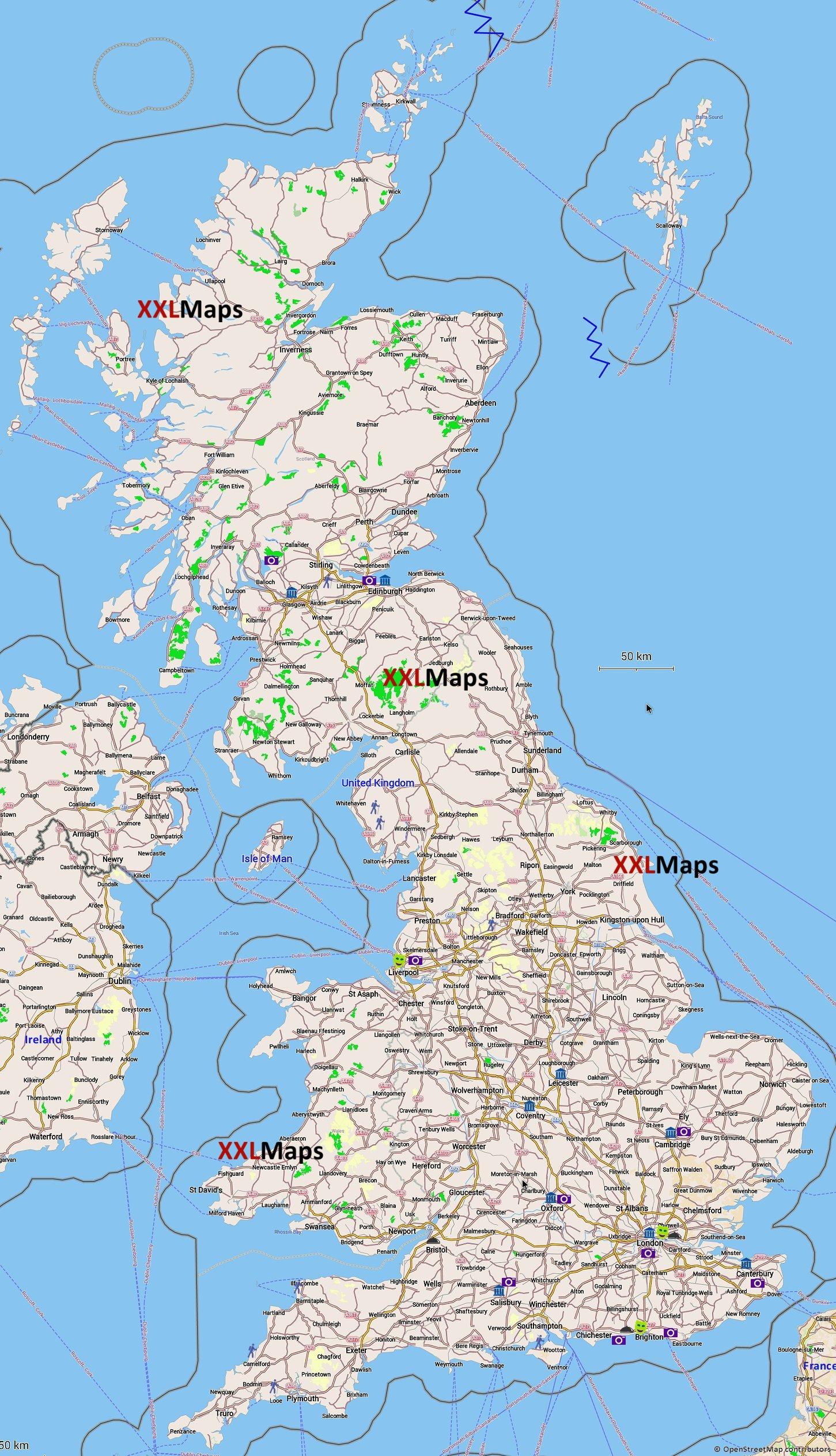 kart over storbritannia Turist kart over Storbritannia   gratis nedlasting for  kart over storbritannia